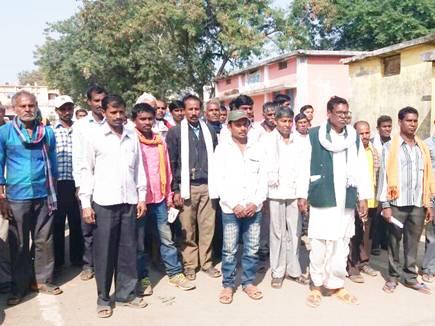 राजनांदगांव : पतंजलि फूड पार्क के विरोध में किसानों का प्रदर्शन