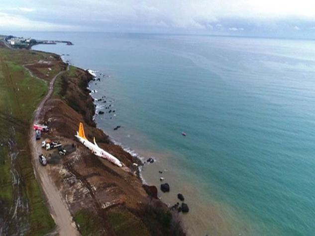 PHOTOS: काला सागर में गिरने से बचा ये प्लेन, बाल-बाल बची 168 जान