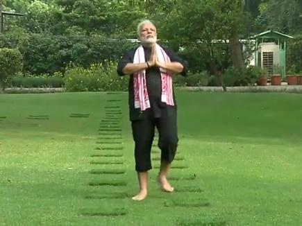 फिटनेस के लिए पंचतत्वों से प्रेरित होकर ट्रैक पर चलते हैं PM मोदी
