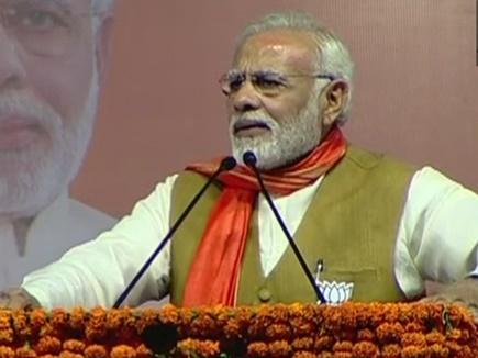 चुनावी सभा में बोले पीएम मोदी, कांग्रेस की सरकार होती तो गुजरात में नर्मदा नहीं आती