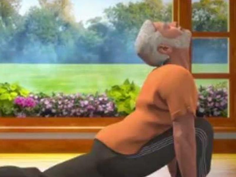 International Yoga Day 2019: पीएम मोदी ने सूर्य नमस्कार का नया एनिमेटेड वीडियो किया ट्वीट