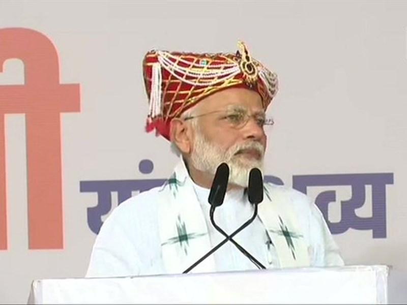 महाराष्ट्र में PM मोदी ने किया चुनाव अभियान का आगाज, कहा - 'शिवाजी के वंशज ने मेरे सिर पर छत्र रखा'