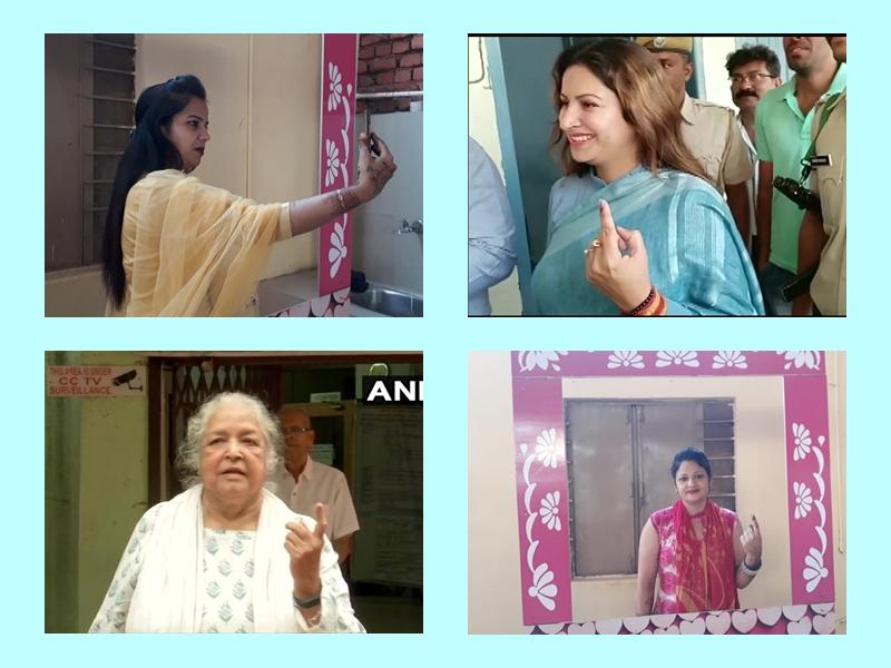 Maharashtra Haryana Voting Pics: सुपरस्टार्स से लेकर राजनेता और आम वोटर्स, तस्वीरों में देखिए मतदाताओं का उत्साह