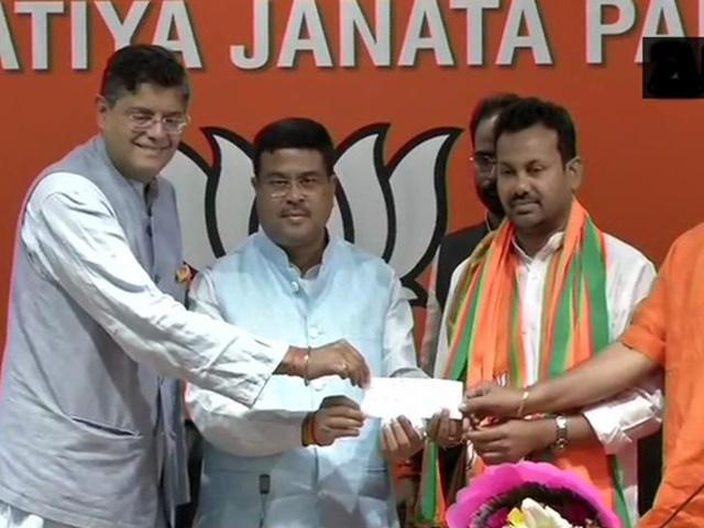 ओडिशा में कांग्रेस विधायक बेहरा ने थामा भाजपा का हाथ