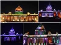 PHOTOS: गणतंत्र दिवस से पहले देखें कितना खूबसूरत सजा है राष्ट्रपति भवन