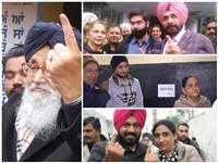 पंजाब में वोट देने के लिए पहुंचे बड़े-बड़े दिग्गज