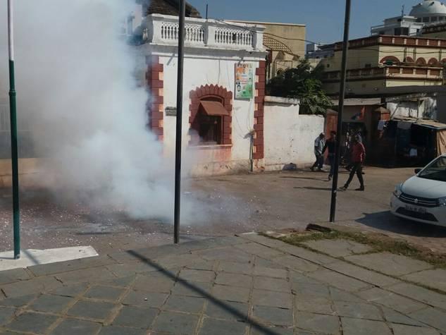 रायपुर : निकाय चुनाव में जीत के बाद कांग्रेस कार्यालय में जश्न