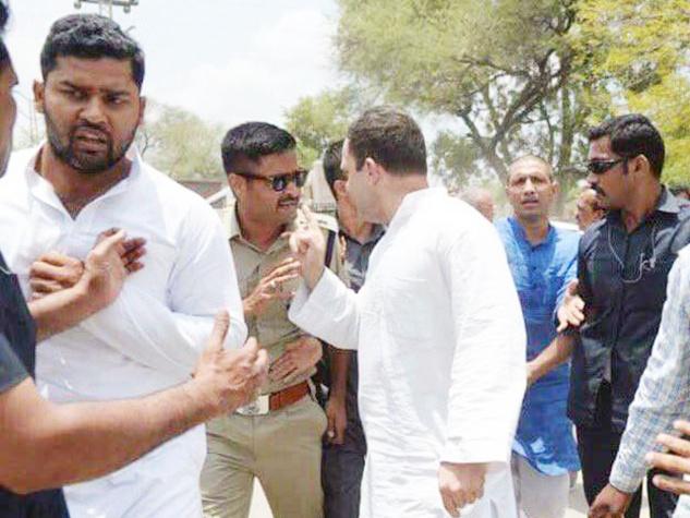 मध्यप्रदेश में प्रवेश करते ही राहुल गांधी को किया गिरफ्तार