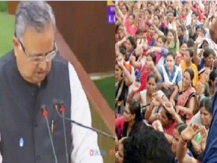 शिक्षाकर्मियों के संविलियन पर मप्र के एक्शन का इंतजार कर रही रमन सरकार