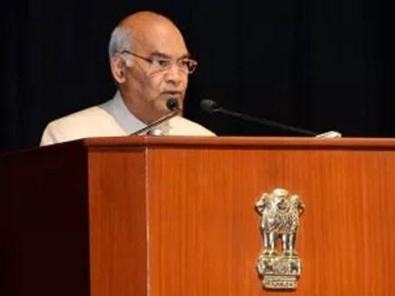 प्रशिक्षु अफसरों से बोले राष्ट्रपति, भारत के विकास को दें विस्तार