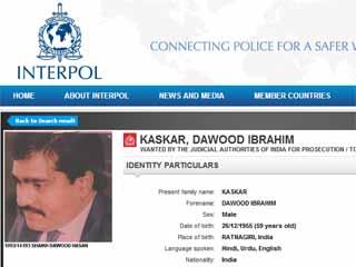 dawood interpol notice