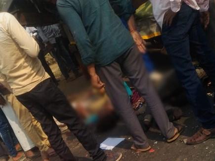 खरगोन : बस और जीप की टक्कर में दो की मौत, 5 घायल