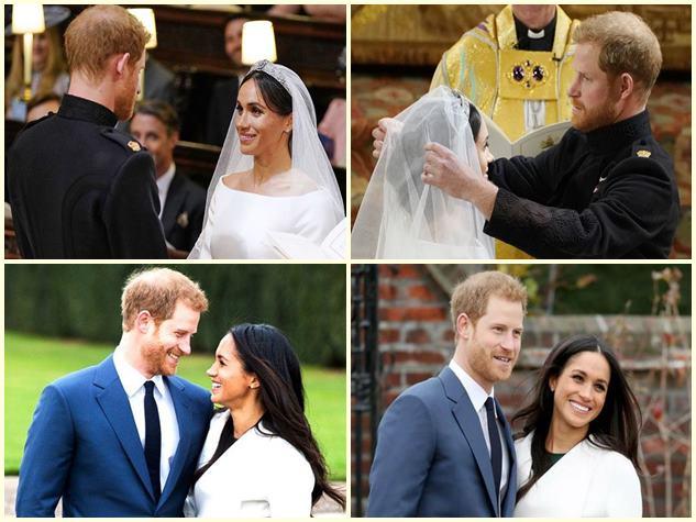 प्रिंस हैरी की हुई मेगन मर्केल, शाही शादी में नजर आए ये सितारे