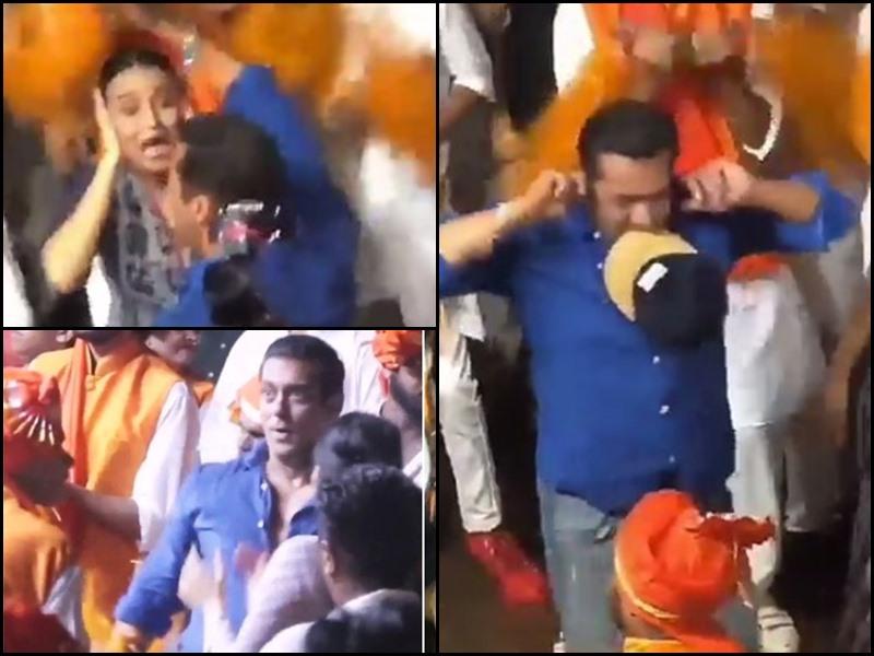 Salman Khan dance at Arpita Khan Ganesh Visarjan: गणेश विसर्जन पर स्वरा के साथ जमकर नाचे सलमान
