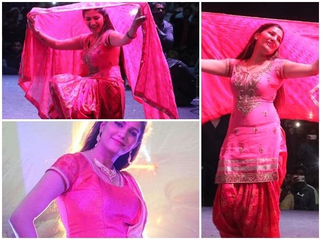 इंदौर में डांसर सपना चौधरी ने जमाया रंग