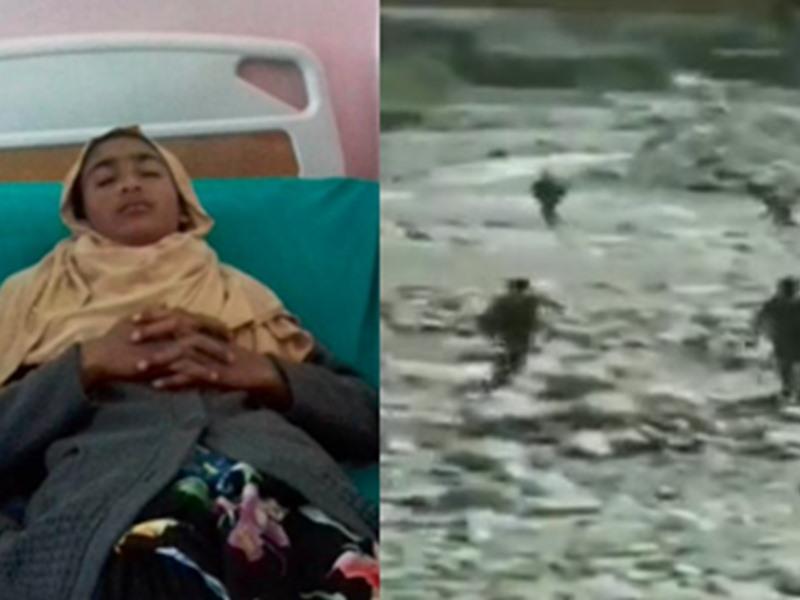 VIDEO:14 साल की बच्ची को बचाने के लिए नदी में कूदे CRPF जवान, लोगों ने किया Salute