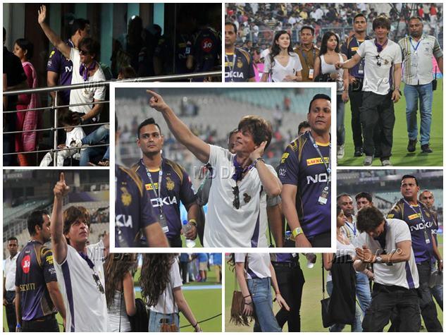 IPL 2018 : KKR के पहले मैच में कुछ ऐसे नजर आए शाहरुख और सुहाना