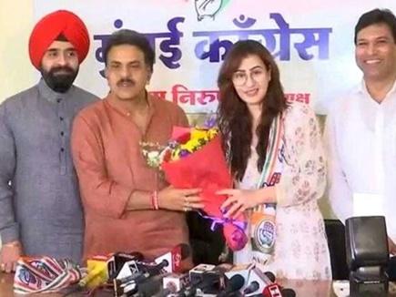 टीवी अभिनेत्री शिल्पा शिंदे ने थामा कांग्रेस का हाथ