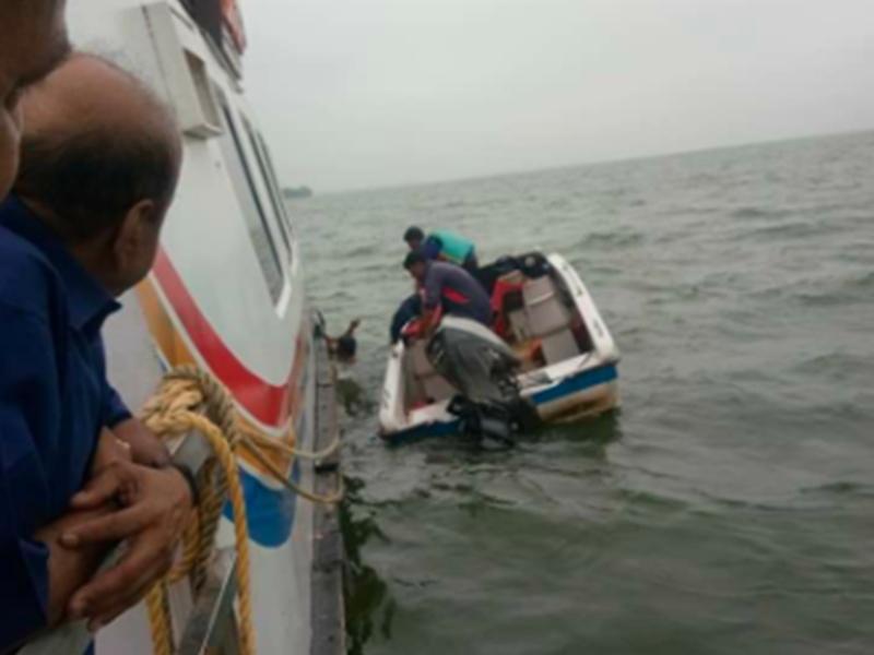 दो बार मछुआरों के जाल में फंसा क्रूज, घबराए पर्यटकों ने डायल 100 में की शिकायत