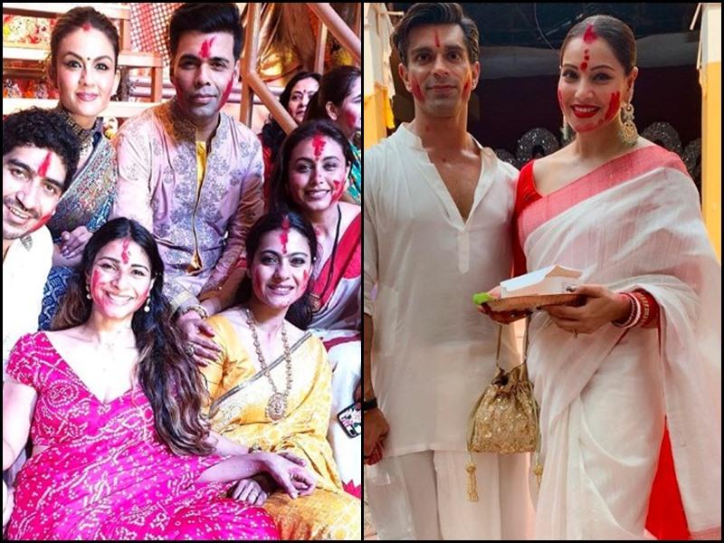 Sindoor Khela: सिंदूर खेला में काजोल, रानी के साथ दिखे करण जौहर, बिपाशा भी पहुंचीं