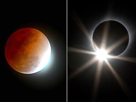 2018 में  तीन सूर्य ग्रहण ,दो बार चंद्र  ग्रहण