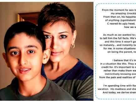 इस बार बेटे को इमोशनल खत लिखा है सोनाली बेंद्रे ने, सीख देती है उनकी ए