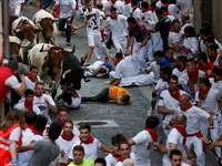 स्पेन में शुरू हो गया है सांड की दौड़ का सालाना जश्न, देखिए कैसे हैं नजारे