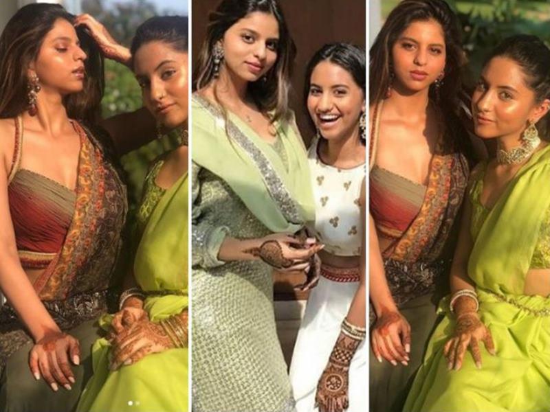 कजिन की शादी एन्जॉय करतीं नजर आईं सुहाना खान, एथनिक अवतार हो रहा है Viral