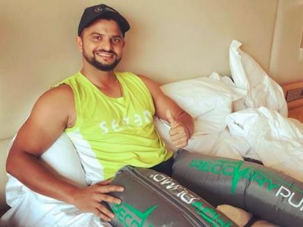 IPL 2018: चोटिल रैना ने शेयर की तस्वीर, फैंस बोले- Get Well Soon