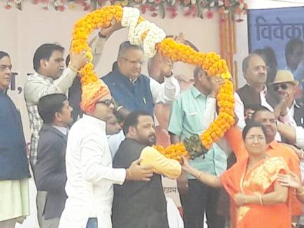 रायपुर : CM रमन सिंह ने 17 करोड़ के स्टेडियम का किया लोकार्पण