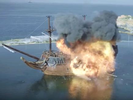 VIDEO : ऐसे तबाह हुए 'ठग्स ऑफ हिंदोस्तां' के जहाज