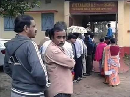 त्रिपुरा के 6 निर्वाचन क्षेत्रों में मतदान संपन्न, निष्पक्ष चुनाव नहीं कराने का था आरोप