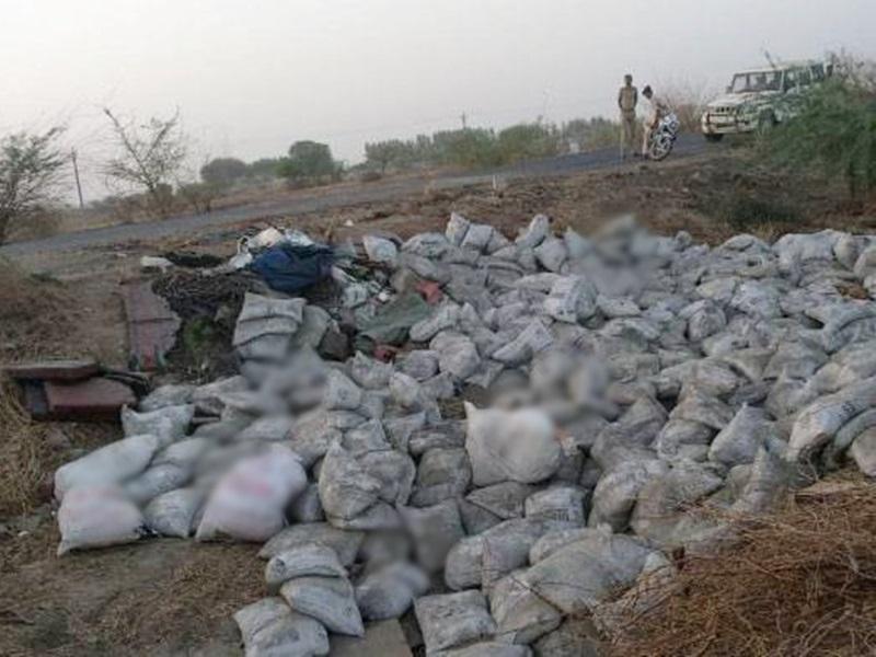 Jagdalpur Accident : दरभा घाट में पलटा सीमेंट लदा ट्रक, दबने से चार की मौत