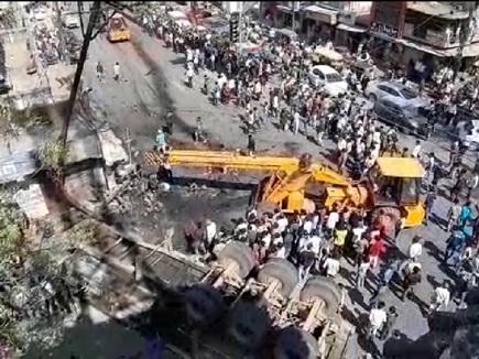 Bilaspur VIDEO : ट्रेलर ने मारी टक्कर, ट्रक में जिंदा जला ड्राइवर