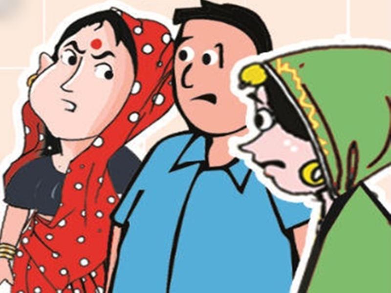 दोनों पत्नियों में हुआ विवाद, युवक ने किया ऐसा प्रयास