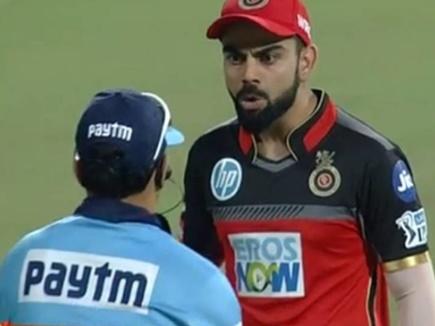 IPL 2018 : कैच के मामले में थर्ड अंपायर के फैसले पर नाराज हुए विराट, देखें VIDEO