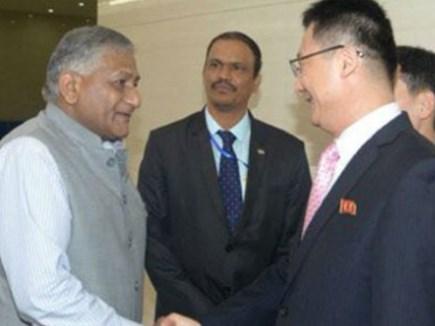 VK सिंह पहुंचे उत्तर कोरिया, 20 साल में भारत के किसी मंत्री का पहला दौरा