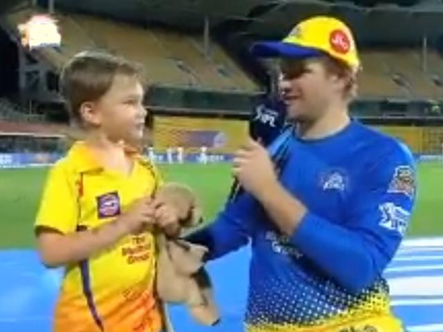 IPL 2019: शेन वॉटसन के बेटे के फेवरेट क्रिकेटर हैं धोनी, देखें VIDEO