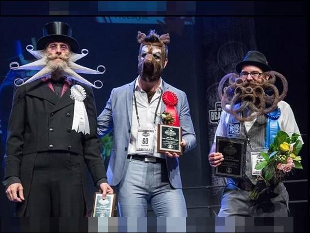 दाढ़ी-मूंछों की चैंपियनशिप के ये हैं विजेता, जरा देखिए इनका अनोखा लुक