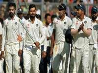 तस्वीरों में देखिए भारत की मुंबई टेस्ट मैच जीतने की कहानी फिर जीत का जश्न